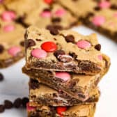 Stack of Valentines Blondies