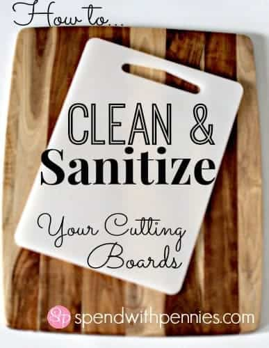 clean your cutting boards