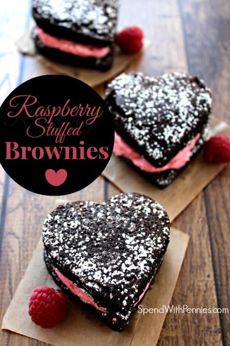 raspberry stuffed brownies