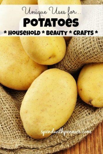 potatoes on burlap