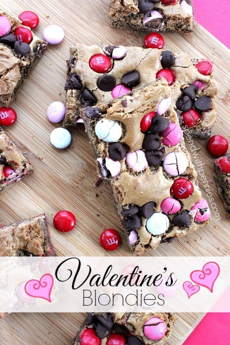 valentine's blondies