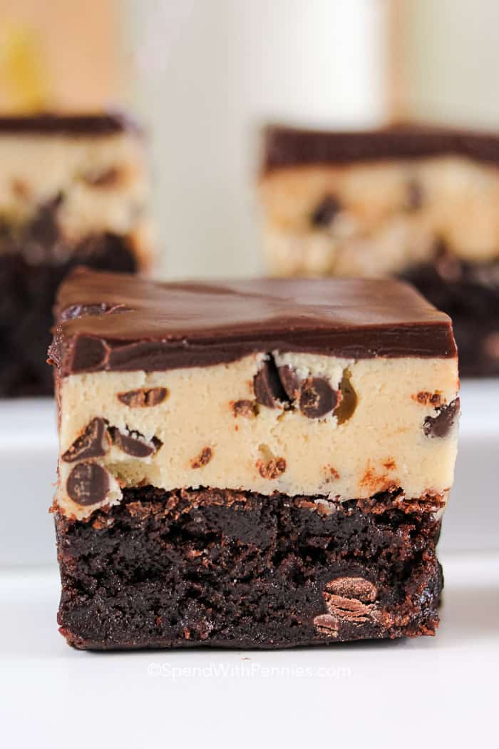 Cookie Dough Brownies Easy Amp Delicious Spend With Pennies