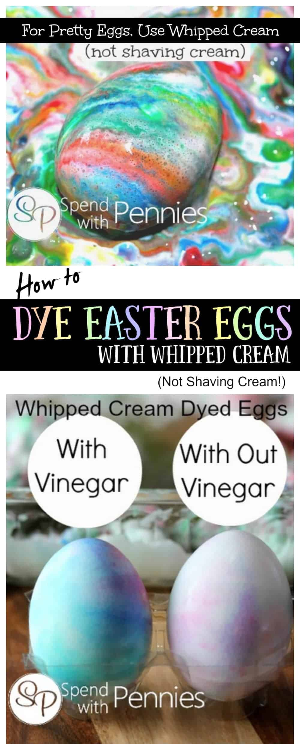 How To Dye Eggs With Whipped Cream (a Safer Alternative To Shaving Cream Easter  Eggs)