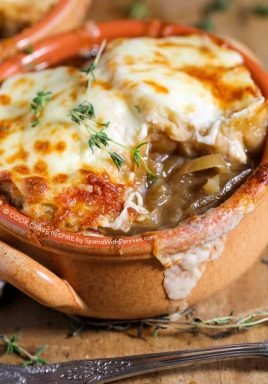 French Onion Soup made easy in the crockpot