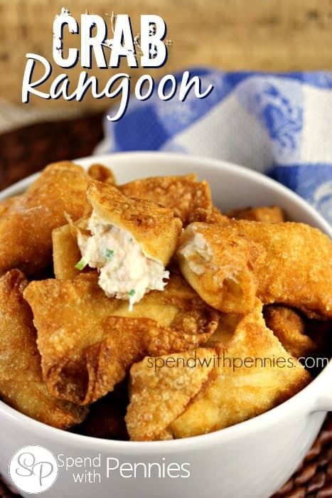 Crab Rangoon (Crab & Cream Cheese filled Wontons) - Spend With Pennies