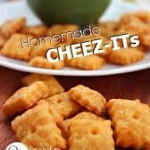 homemade cheez its with dip