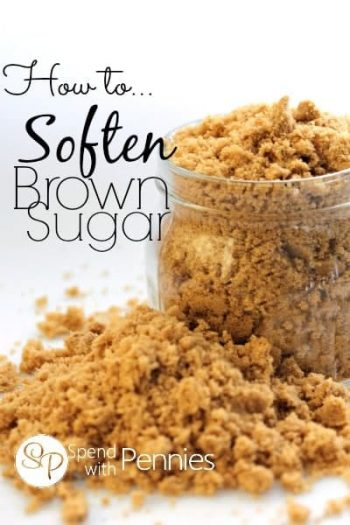 brown sugar in a glass jar and on the table