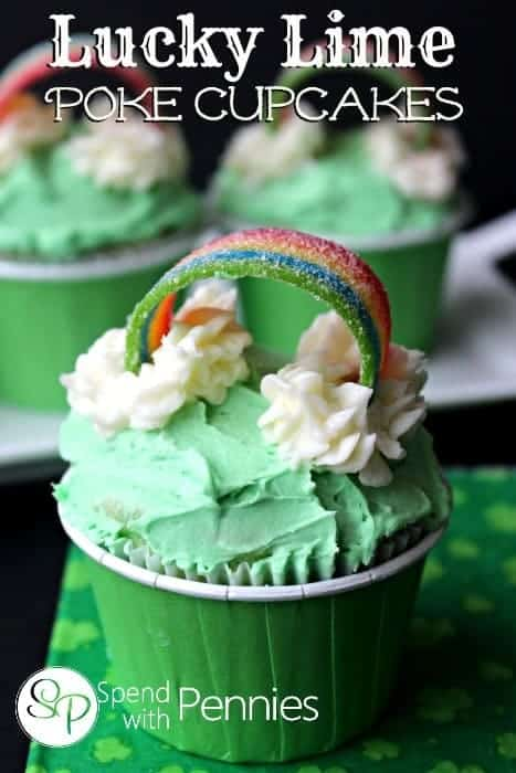 lucky lime poke cupcakes