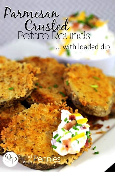 Parmesan Crusted Potatoes with Loaded Dip
