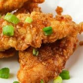 chicken tender with honey, garlic and ginger