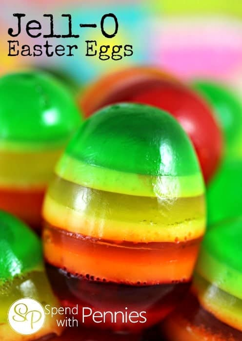 Striped Jell-O Easter Eggs