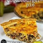 bacon cheeseburger pie with pickles