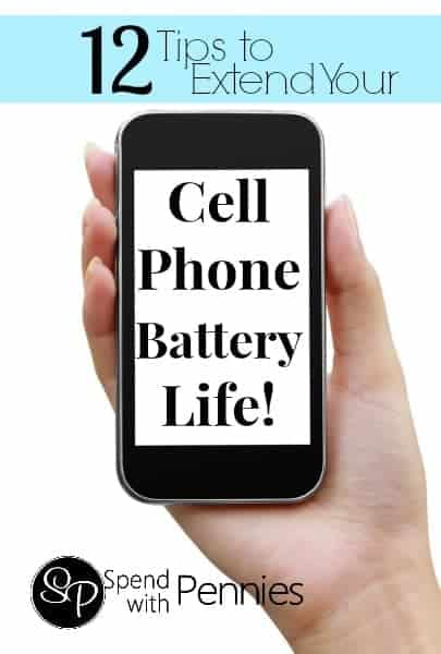12 Tips to Extend Your Cell Phone Battery Life! (Most of these will work on any brand of phone).