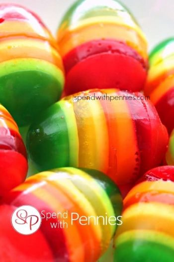 colorful jello easter eggs
