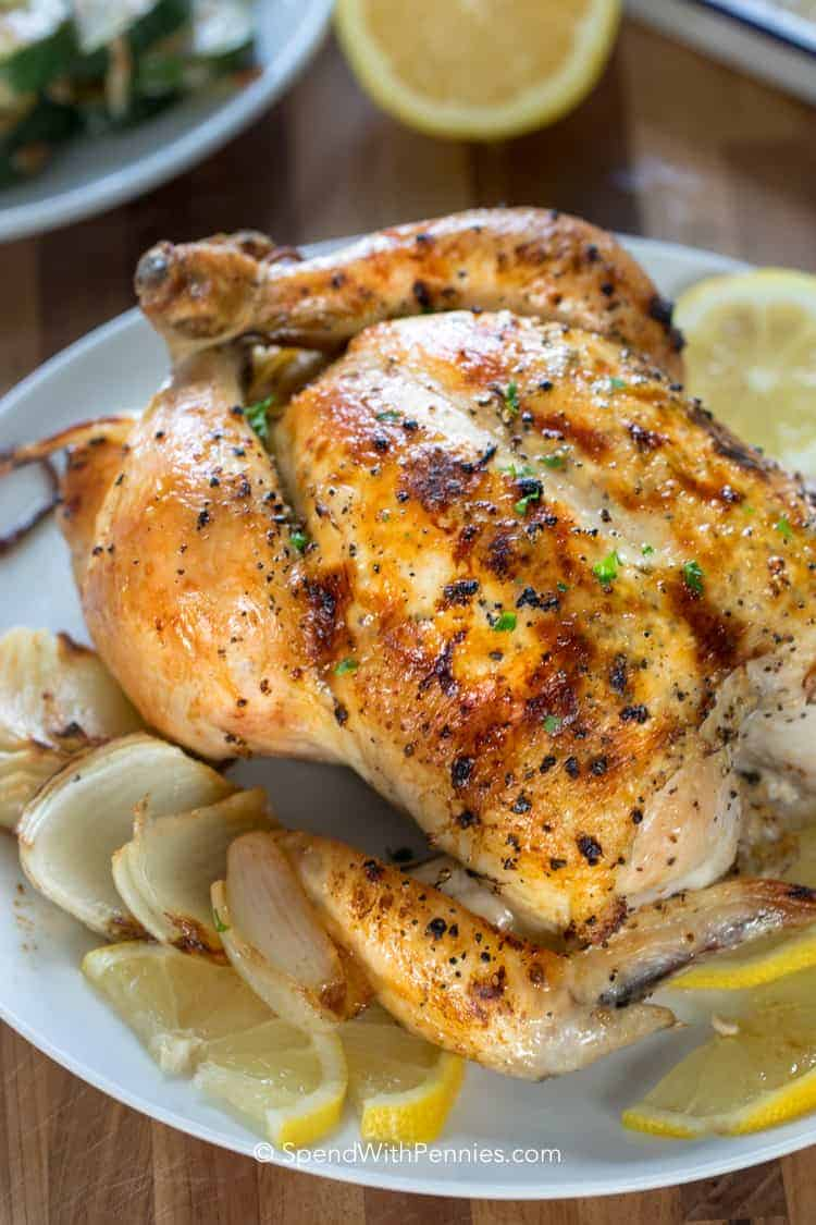 lemon roast chicken spend with pennies