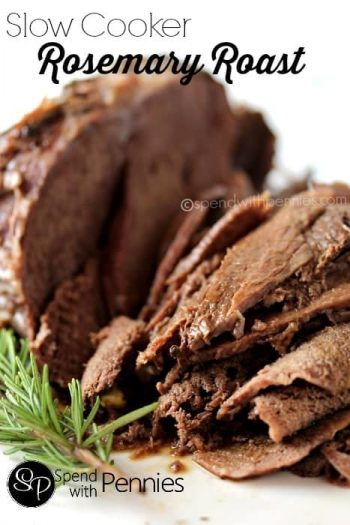 Sliced Tender Slow Cooker Rosemary Roast