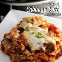 Crock Pot Cabbage Roll Casserole!