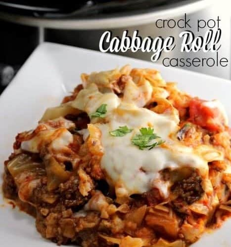 Cabbage Roll Casserole Crock Pot Version Spend With Pennies