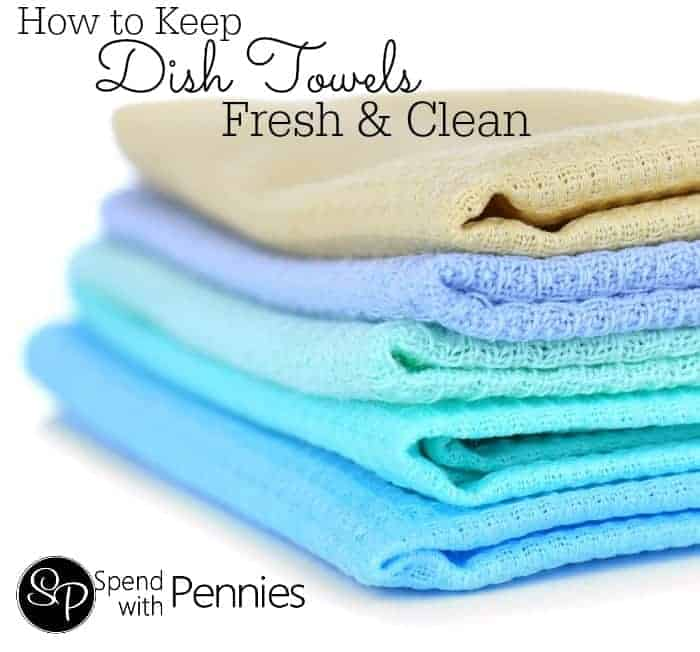 how to keep your dish towels fresh clean spend with pennies. Black Bedroom Furniture Sets. Home Design Ideas