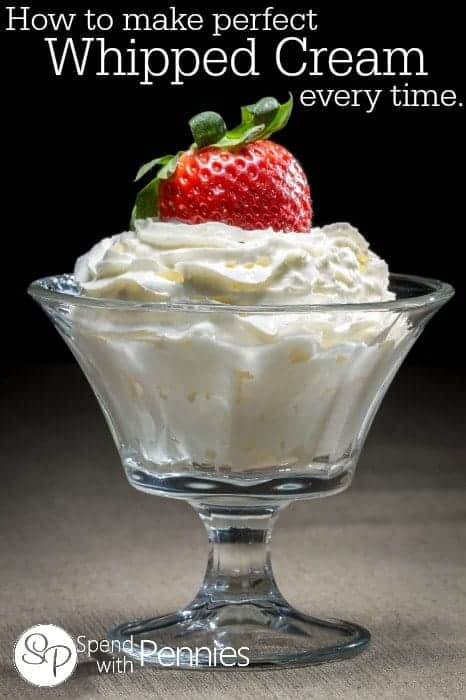 How to make perfect whipped cream.. every time!!