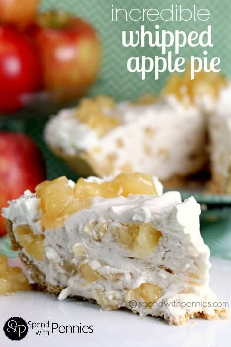 Incredible Whipped Apple Pie! The PERFECT no bake dessert... this is beyond delicious and not too sweet!