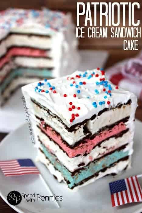 How to make ice cream cake out of sandwiches
