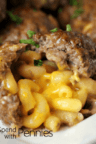 meatballs stuffed with macaroni and cheese