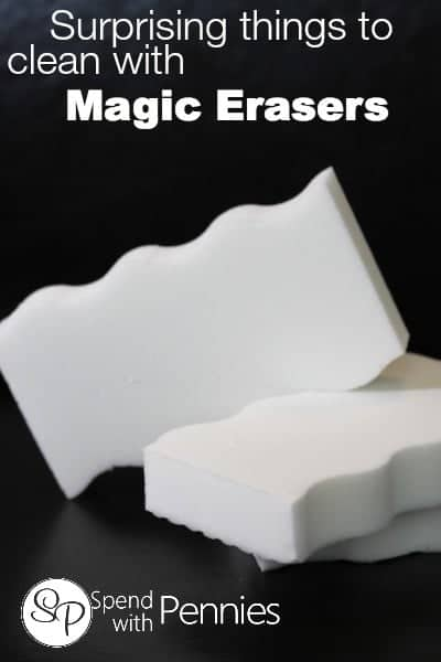 Surprising things to clean with Magic Erasers!