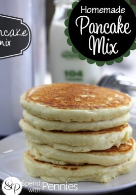How to make pancake mix at home and make homemade pancakes!