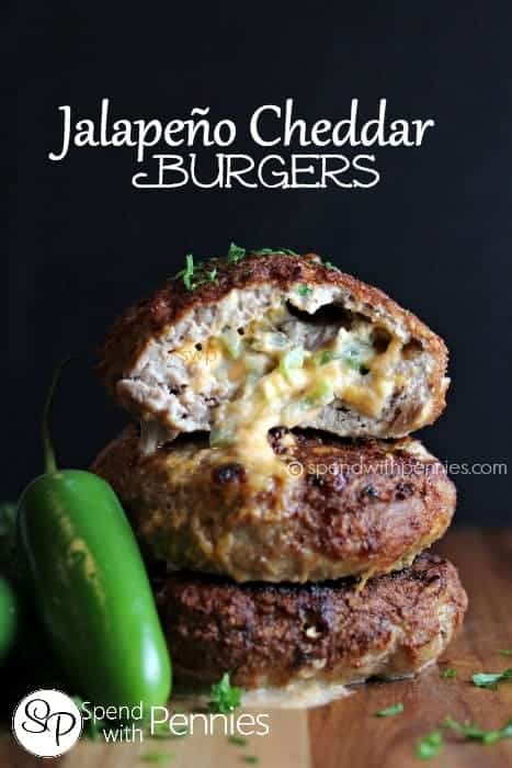 Jalapeno Cheddar Burgers! These are amazing with turkey or beef and ...