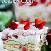 Whipped Strawberry Icebox cake with fresh strawberries