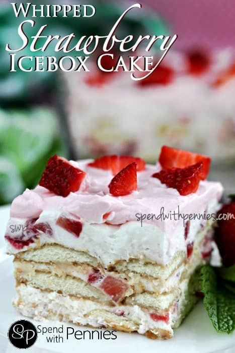 Whipped Strawberry Icebox Cake (No Bake!)