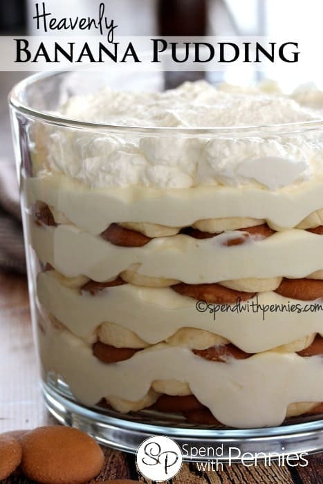 Heavenly Banana Pudding!  This no bake pudding is so incredible and easy to make...  if you're looking for a dessert that EVERYONE will love, you've found it!  #banana #dessert #nobake #iceboxcake