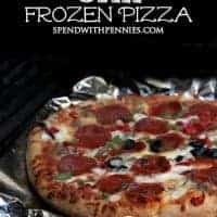 How to Grill a Frozen Pizza!  This makes it taste SOO delicious!