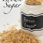 a jar of brown sugar