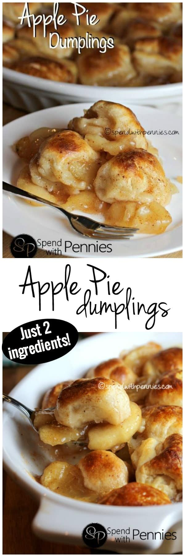 Apple Pie Dumplings! This delicious dessert has only TWO ingredients! I've made this so many times!!