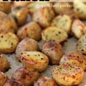roast potatoes on a sheet pan