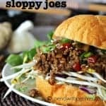Asian Sloppy Joes with bean sprouts
