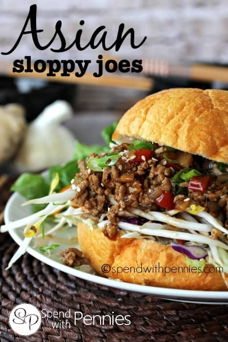 Asian Sloppy Joes!  These are delicious!