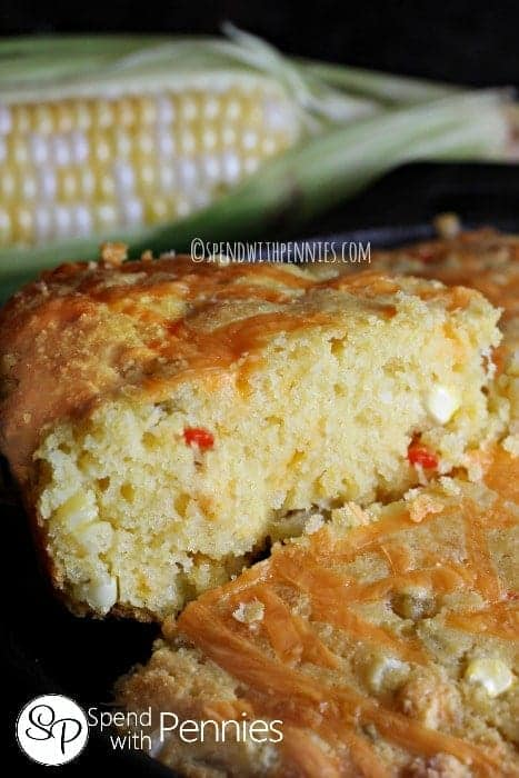 Chile Cheddar Cornbread - Spend With Pennies