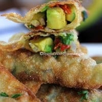 Crispy Avocado Wontons!  Delicious crispy wonton shells filling with a fresh avocado mixture! Love these!