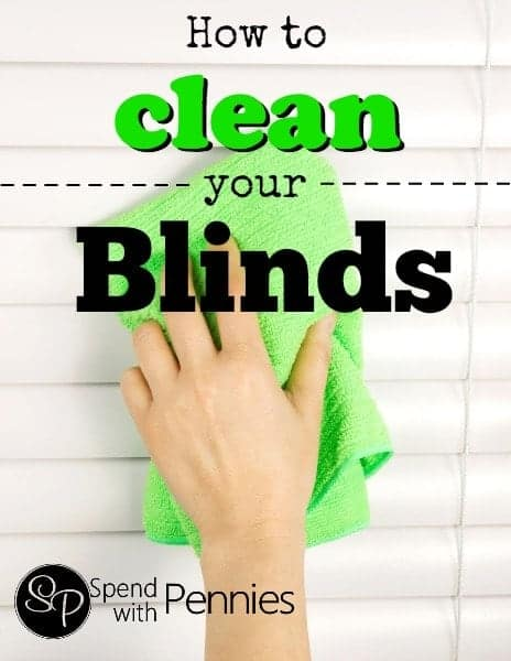 How to clean your blinds!