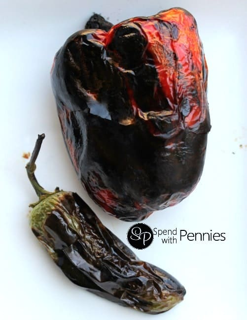 Roasted Peppers charred