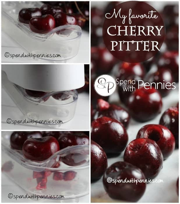 My favorite cherry pitter of all time! It makes it so quick and easy to pit cherries!