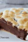 smores pie topped with marshmallows