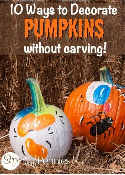 10 Ways to Decorate Pumpkins without Carving!