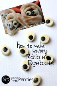 How to make savory edible eyeballs