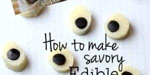 How to make savory edible eyeballs
