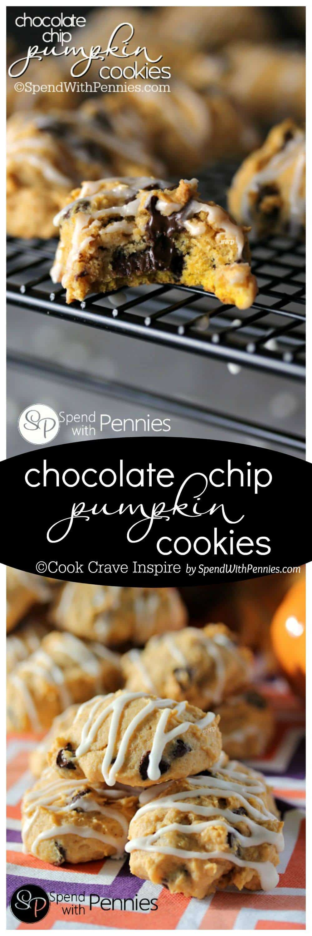 Pumpkin Spice Cookies With Chocolate Glaze Recipe — Dishmaps
