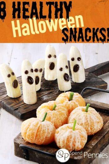 ghost bananas and orange pumpkins
